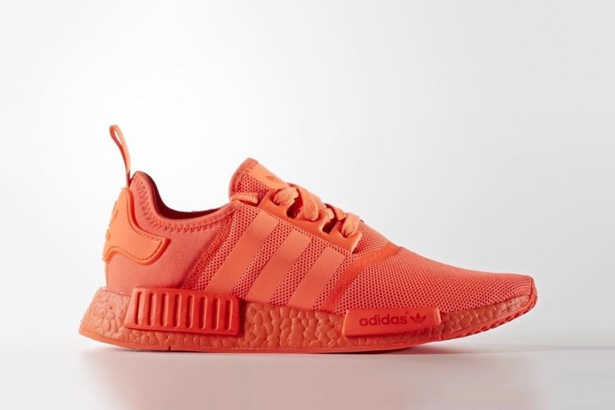 adidas nmd r1 red in feet adidas shoes men red color