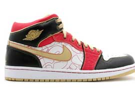 China-Xq-2007-Retro-White-Gold-Dust-Sport-Red-Black-Jordan-1-Original-Release