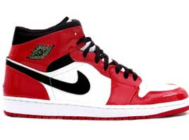 Retro-Patent-Leather-White-Black-Varsity-Red-Jordan-1-Original-Release