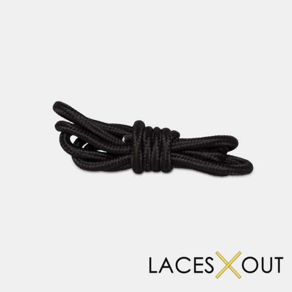 Black Rope Shoelaces Bundled