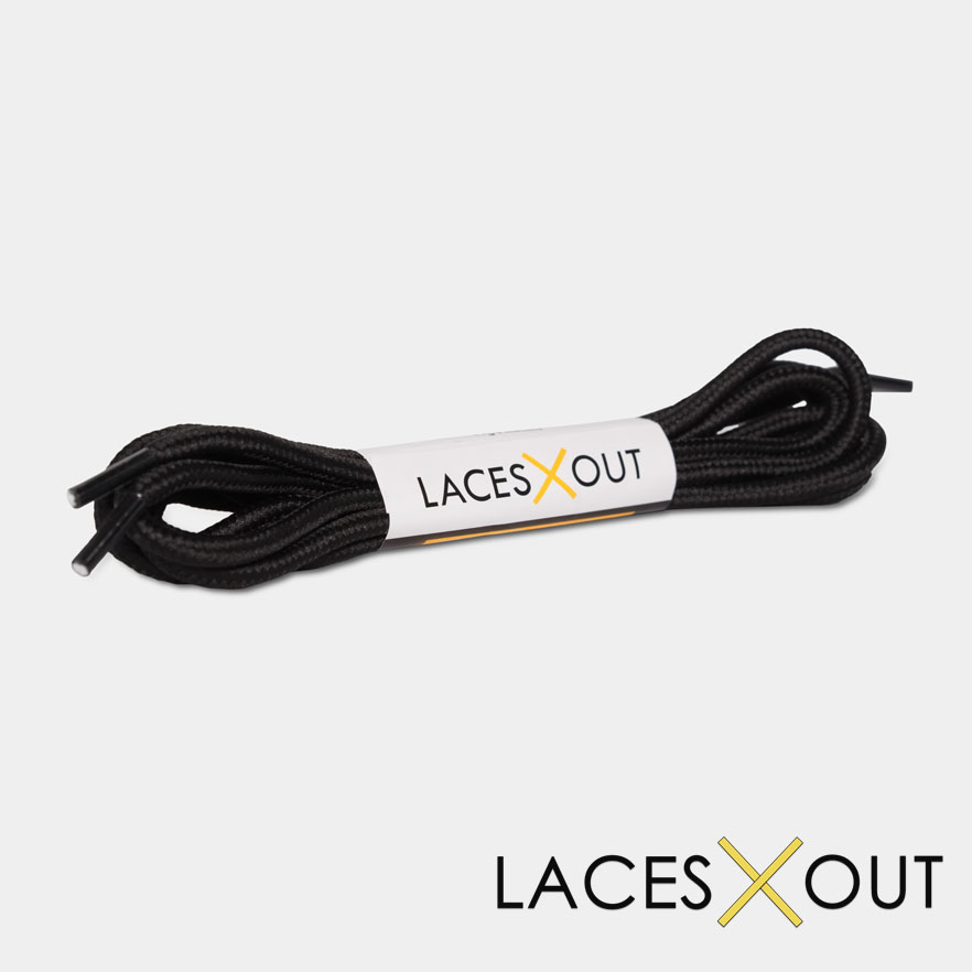 Black Rope Shoelaces Product View