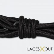 Black Rope Shoelaces Middle View