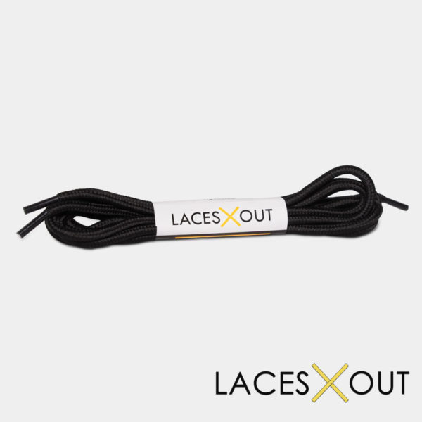 Black Rope Shoelaces
