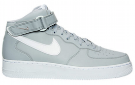Cool Grey Nike Air Force Ones Laces