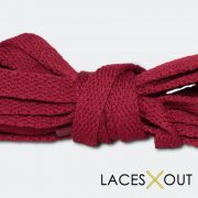Maroon Sneaker Shoelaces Middle