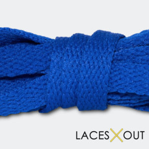 Royal Blue Shoelaces Close View