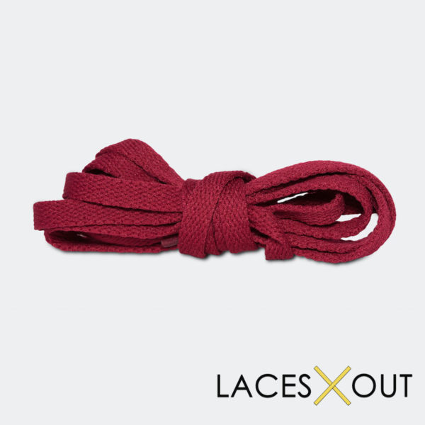 Maroon Sneaker Shoelaces Bundled View