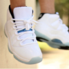 White Laces Air Jordan 11