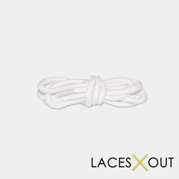 White Rope Shoelaces Middle View