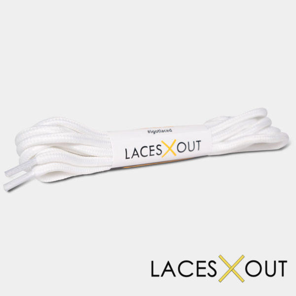 White Rope Shoelaces Product View