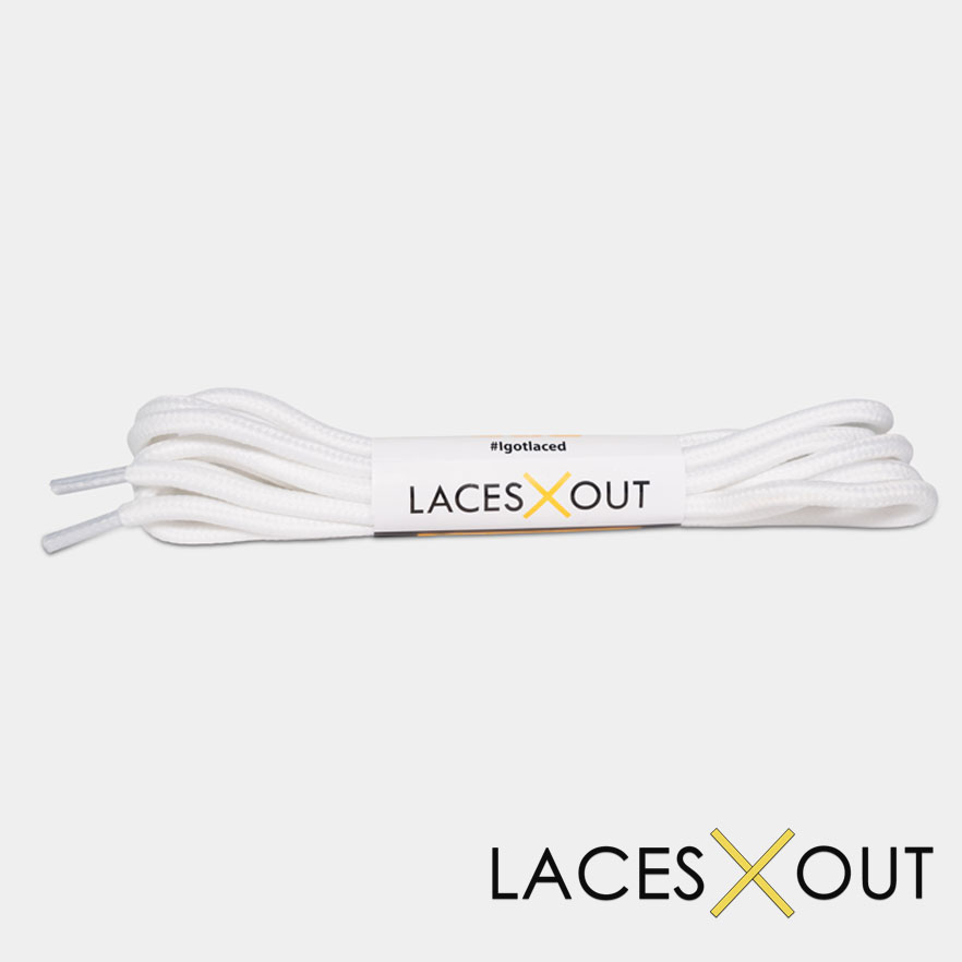 White Rope Shoelaces