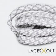 Grey 3M Shoelaces Side View