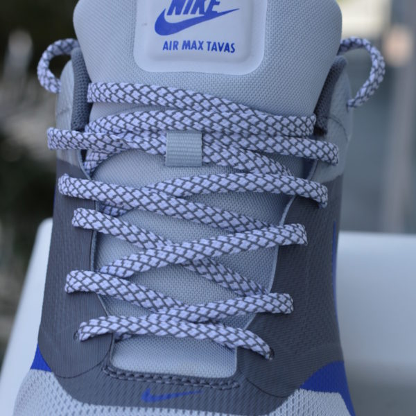 White and Grey 3m Reflective Laces