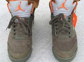 Air-Jordan-5-Retro-Undefeated-Olive-Oiled-Suede-Flight-Satin