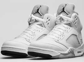 Air-Jordan-5-Retro-White-Metallic-Silver-Black