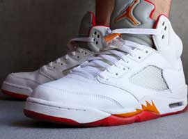 Air-Jordan-5-Retro-Womens-White-Fire-Red-Sunset-Dark-Cinder