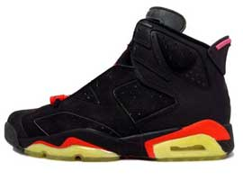 air jordan 6 og black black infra red