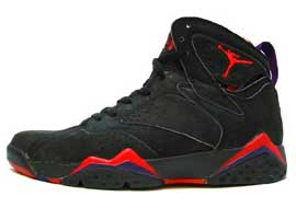 air jordan 7 black dark charcoal true red