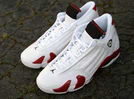 air jordan 14 og candy cane white black varsity red
