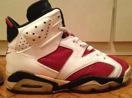 air jordan 6 og carmines white carmine black