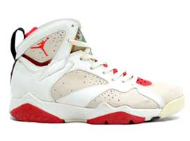 air jordan 7 og hare white light silver true red