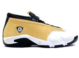 air jordan 14 og low light ginger black white