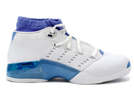 air jordan 17 low white university blue black chrome
