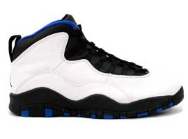 air jordan 10 og new york knicks white black royal blue orange flame