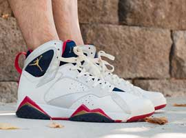 air jordan 7 olympic white midnight navy true red