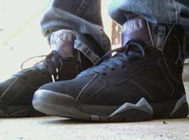 air jordan 7 retro black chambray light graphite
