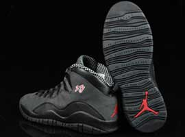 air jordan 10 retro black dark shadow true red countdown pack