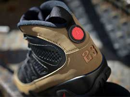 air jordan 9 retro black light olive true red