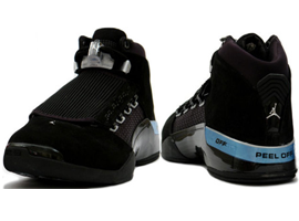 air jordan 17 retro black metallic silver countdown pack