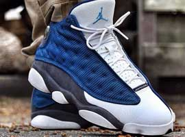 air jordan 13 retro french blue university blue flint grey