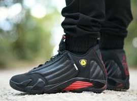 air jordan 14 retro last shot black black varsity red