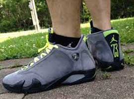 air jordan 14 retro light graphite chartreuse black