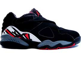 air jordan 8 retro low black true red del sol