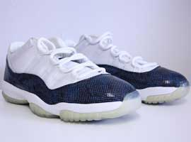 air jordan 11 retro low snake skin white black navy