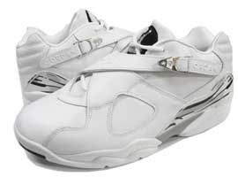 air jordan 8 retro low white metallic silver