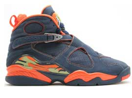 air jordan 8 retro midnight navy pea pod orange blaze