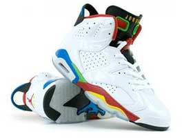 best sneakers c5a49 57448 air jordan 6 retro olympic rings 2008 white varsity red green bean blue