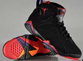 air jordan 7 retro raptors black dark charcoal true red
