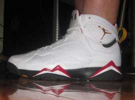 air jordan 7 retro white black cardinal red bronze