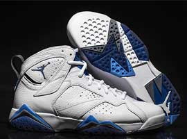 air jordan 7 retro white french blue flint grey