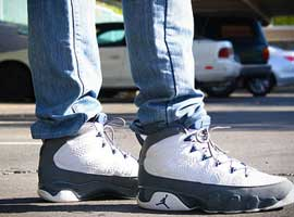 air jordan 9 retro white french blue flint grey