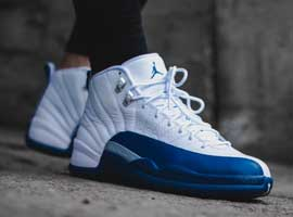 air jordan 12 retro white french blue metallic silver varsity red