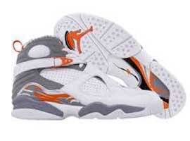 air jordan 8 retro white orange blaze silver stealth