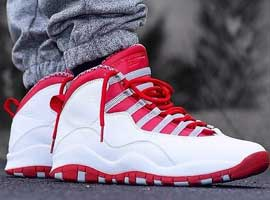 air jordan 10 retro white varsity red light steel grey