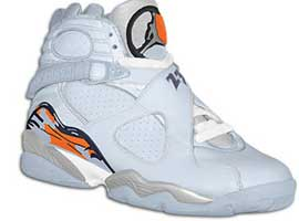 air jordan 8 retro womens ice blue orange blaze silver