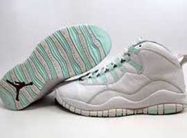 air jordan 10 retro womens white ice green varsity red